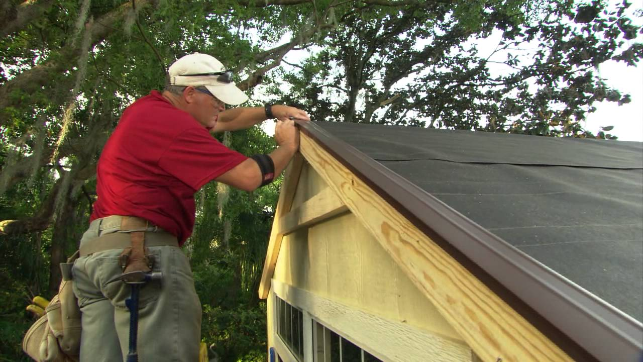 Install Shingles On A Shed