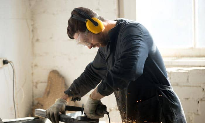 Ear protection is essential as the rotary tool can get loud.