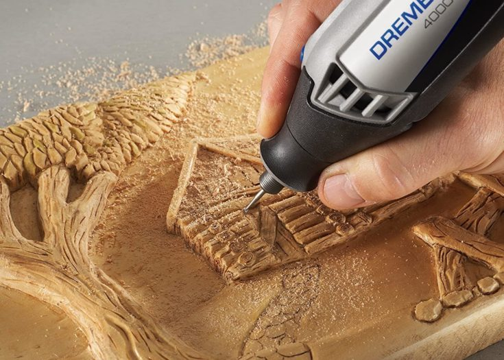 With the right attachment, you can add sophisticated details to your surfaces.